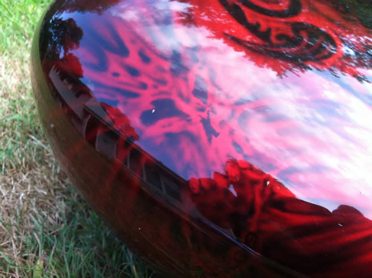 Candy Red Jersey Devil Tank, zoomed view